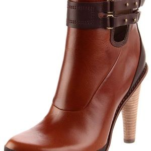 Tsubo Galvani Ankle Boots | Brown Leather Size 8.5